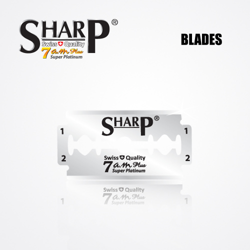 SHARP 7AM SUPER PLATINUM DOUBLE EDGE DURABLADE SWISS QUALITY RAZOR BLADES T5 B100 P500 PCS 2