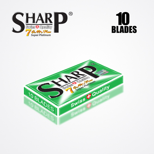 SHARP 7AM SUPER PLATINUM DOUBLE EDGE DURABLADE SWISS QUALITY RAZOR BLADES 10 PCS 4
