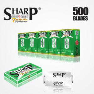 SHARP 7AM SUPER PLATINUM DOUBLE EDGE DURABLADE SWISS QUALITY RAZOR BLADES T10 B100 P500 PCS