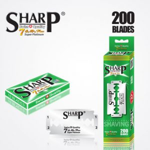 SHARP 7AM SUPER PLATINUM DOUBLE EDGE DURABLADE SWISS QUALITY RAZOR BLADES – T10 B200 PCS