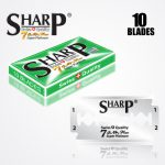 SHARP 7AM SUPER PLATINUM DOUBLE EDGE DURABLADE SWISS QUALITY RAZOR BLADES 10 PCS 1