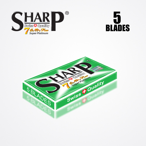 SHARP 7AM SUPER PLATINUM DOUBLE EDGE DURABLADE SWISS QUALITY RAZOR BLADES T5 B100 P10,000 PCS 4
