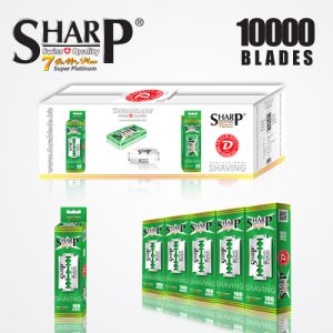 SHARP 7AM SUPER PLATINUM DOUBLE EDGE DURABLADE SWISS QUALITY RAZOR BLADES T5 B100 P10,000 PCS