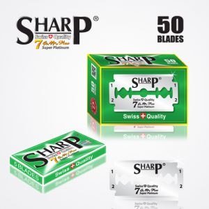 SHARP 7AM SUPER PLATINUM DOUBLE EDGE DURABLADE SWISS QUALITY RAZOR BLADES – 50PCS