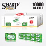 SHARP 7AM SUPER PLATINUM DOUBLE EDGE DURABLADE SWISS QUALITY RAZOR BLADES T5 B50 P10,000 PCS 1