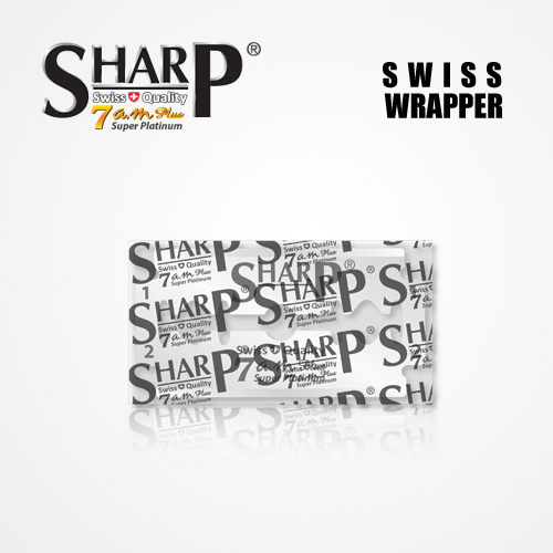 SHARP 7AM SUPER PLATINUM DOUBLE EDGE DURABLADE SWISS QUALITY RAZOR BLADES T5 B100 P500 PCS 3