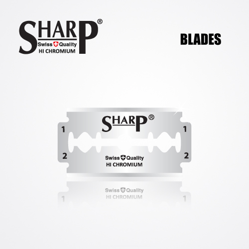 SHARP HI CHROMIUM DOUBLE EDGE DURABLADE SWISS QUALITY RAZOR BLADES 10 PCS 2