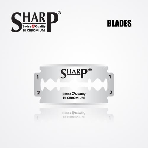 SHARP HI CHROMIUM DOUBLE EDGE DURABLADE SWISS QUALITY RAZOR BLADES T10 B200 P1000 PCS 2