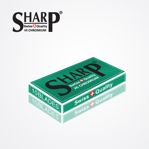 SHARP HI CHROMIUM DOUBLE EDGE DURABLADE SWISS QUALITY RAZOR BLADES T10 B100 PCS 4