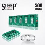 SHARP HI CHROMIUM DOUBLE EDGE DURABLADE SWISS QUALITY RAZOR BLADES T10 B100 P500 PCS 1