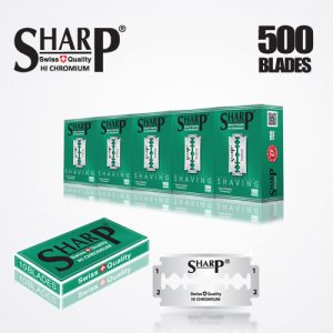 SHARP HI CHROMIUM DOUBLE EDGE DURABLADE SWISS QUALITY RAZOR BLADES T10 B100 P500 PCS