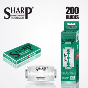 SHARP HI CHROMIUM DOUBLE EDGE DURABLADE SWISS QUALITY RAZOR BLADES T10 B200 PCS