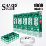 SHARP HI CHROMIUM DOUBLE EDGE DURABLADE SWISS QUALITY RAZOR BLADES T10 B200 P1000 PCS 1