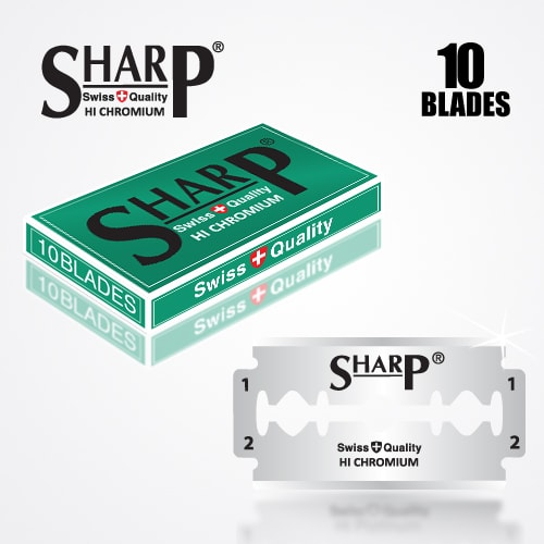 SHARP HI CHROMIUM DOUBLE EDGE DURABLADE SWISS QUALITY RAZOR BLADES 10 PCS 1