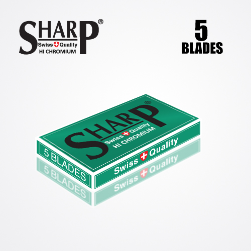 SHARP HI CHROMIUM DOUBLE EDGE DURABLADE SWISS QUALITY RAZOR BLADES T5 B100 PCS 4