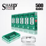 SHARP HI CHROMIUM DOUBLE EDGE DURABLADE SWISS QUALITY RAZOR BLADES T5 B100 P500 PCS 1