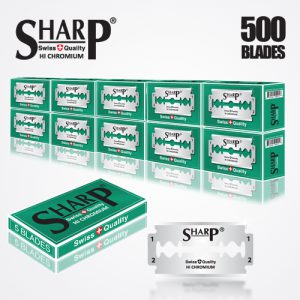 SHARP HI CHROMIUM DOUBLE EDGE DURABLADE SWISS QUALITY RAZOR BLADES T5 B50 IC500 PCS