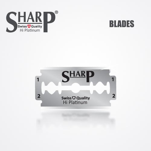 SHARP HI PLATINUM DURABLADE SWISS QUALITY DOUBLE EDGE RAZOR BLADE T10 B100 P500 PCS 2