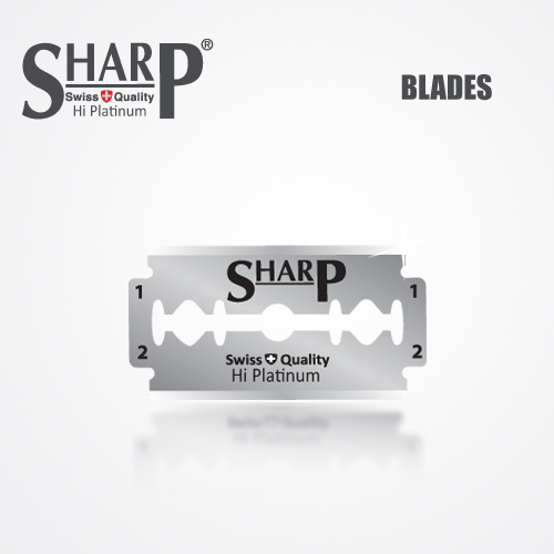 SHARP HI PLATINUM DURABLADE SWISS QUALITY DOUBLE EDGE RAZOR BLADE T5 B100 P10,00 PCS 2