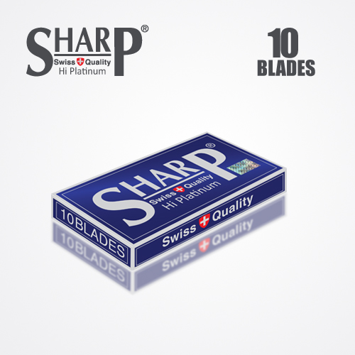 SHARP HI PLATINUM DURABLADE SWISS QUALITY DOUBLE EDGE RAZOR BLADE T10 B100 P500 PCS 4