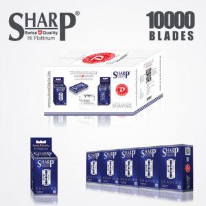 SHARP HI PLATINUM DURABLADE SWISS QUALITY DOUBLE EDGE RAZOR BLADE 10000 PCS