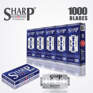 SHARP HI PLATINUM DURABLADE SWISS QUALITY DOUBLE EDGE RAZOR BLADE T10 B200 P1000 PCS