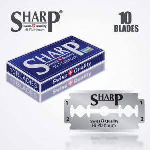 SHARP HI PLATINUM DURABLADE SWISS QUALITY DOUBLE EDGE RAZOR BLADE 10 PCS