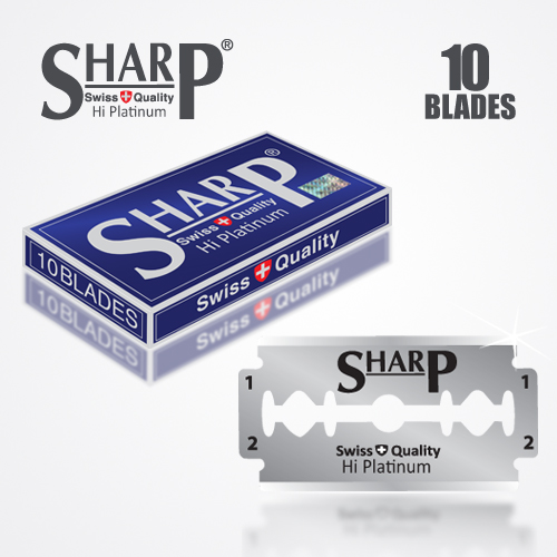 SHARP HI PLATINUM DURABLADE SWISS QUALITY DOUBLE EDGE RAZOR BLADE 10 PCS 1