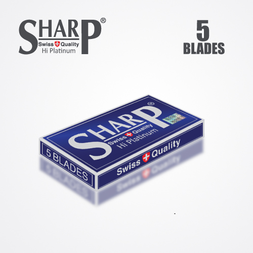 SHARP HI PLATINUM DURABLADE SWISS QUALITY DOUBLE EDGE RAZOR BLADE 5 PCS 4