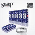 SHARP HI PLATINUM DURABLADE SWISS QUALITY DOUBLE EDGE RAZOR BLADE T5 B100 P500 PCS 1