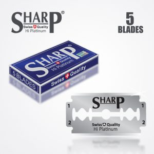 SHARP HI PLATINUM DURABLADE SWISS QUALITY DOUBLE EDGE RAZOR BLADE 5 PCS