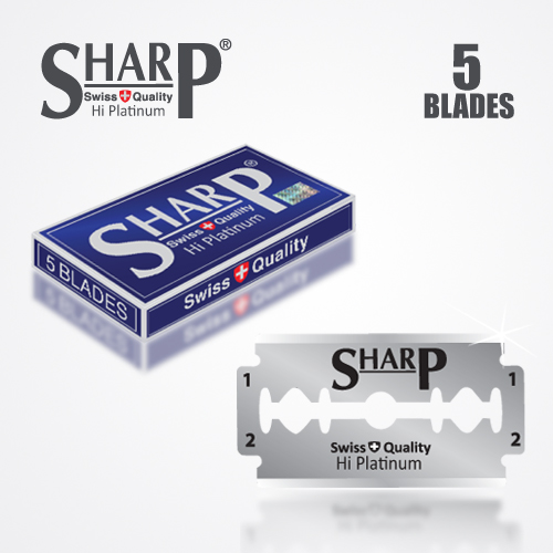 SHARP HI PLATINUM DURABLADE SWISS QUALITY DOUBLE EDGE RAZOR BLADE 5 PCS 1