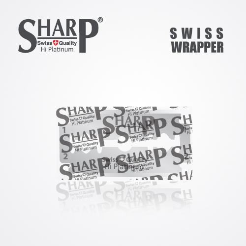 SHARP HI PLATINUM DURABLADE SWISS QUALITY DOUBLE EDGE RAZOR BLADE 10 PCS 3