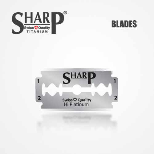 SHARP TITANIUM DOUBLE EDGE DURABLADE SWISS QUALITY RAZOR BLADES 5 PCS 2