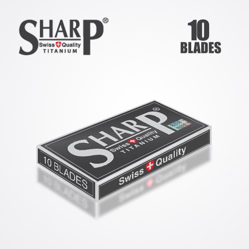 SHARP TITANIUM DOUBLE EDGE DURABLADE SWISS QUALITY RAZOR BLADES 10 PCS 4