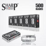 SHARP TITANIUM DOUBLE EDGE DURABLADE SWISS QUALITY RAZOR BLADES – T10 B500 PCS 1