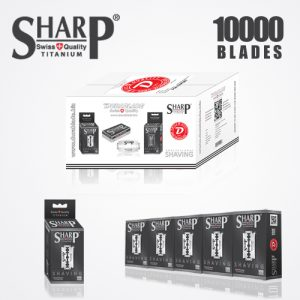 SHARP TITANIUM DOUBLE EDGE DURABLADE SWISS QUALITY RAZOR BLADES – T10 B10,000 PCS