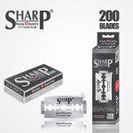 SHARP TITANIUM DOUBLE EDGE DURABLADE SWISS QUALITY RAZOR BLADES T10 B200 PCS 1