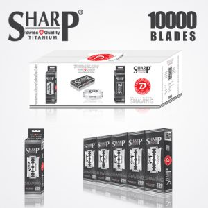 SHARP TITANIUM DOUBLE EDGE DURABLADE SWISS QUALITY RAZOR BLADES – T10 B200 MC10,000 PCS