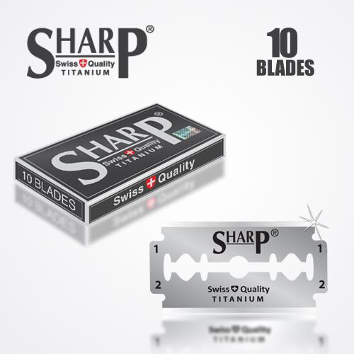 SHARP TITANIUM DOUBLE EDGE DURABLADE SWISS QUALITY RAZOR BLADES 10 PCS 1