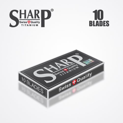 SHARP TITANIUM DOUBLE EDGE DURABLADE SWISS QUALITY RAZOR BLADES T10 B100 PCS 4