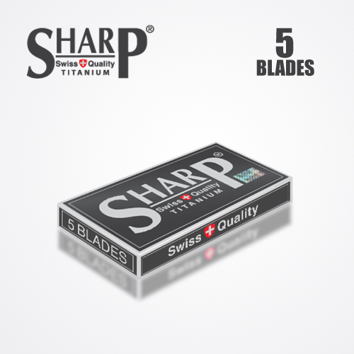 SHARP TITANIUM DOUBLE EDGE DURABLADE SWISS QUALITY RAZOR BLADES 5 PCS 4