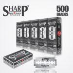 SHARP TITANIUM DOUBLE EDGE DURABLADE SWISS QUALITY RAZOR BLADES – T5 B500 PCS 1
