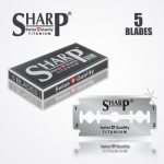 SHARP TITANIUM DOUBLE EDGE DURABLADE SWISS QUALITY RAZOR BLADES 5 PCS 1