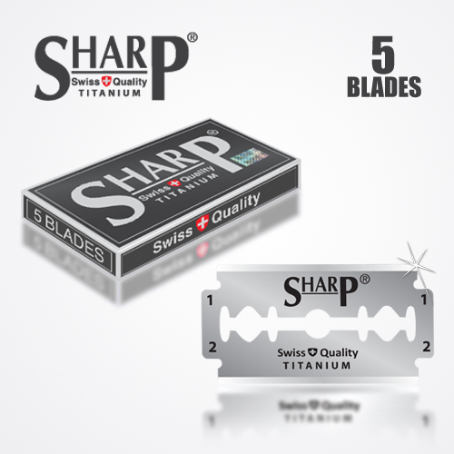 SHARP TITANIUM DOUBLE EDGE DURABLADE SWISS QUALITY RAZOR BLADES 5 PCS 1