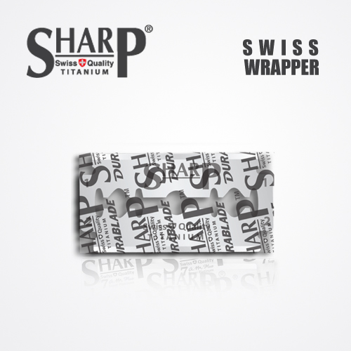 SHARP TITANIUM DOUBLE EDGE DURABLADE SWISS QUALITY RAZOR BLADES 5 PCS 3