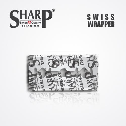 SHARP TITANIUM DOUBLE EDGE DURABLADE SWISS QUALITY RAZOR BLADES 5 PCS 3