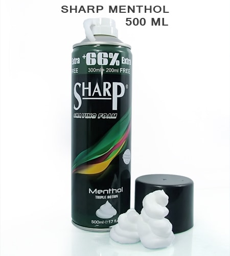 Sharp MentholShaving Foam 500ml -1