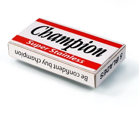 champion double edge blade tuck