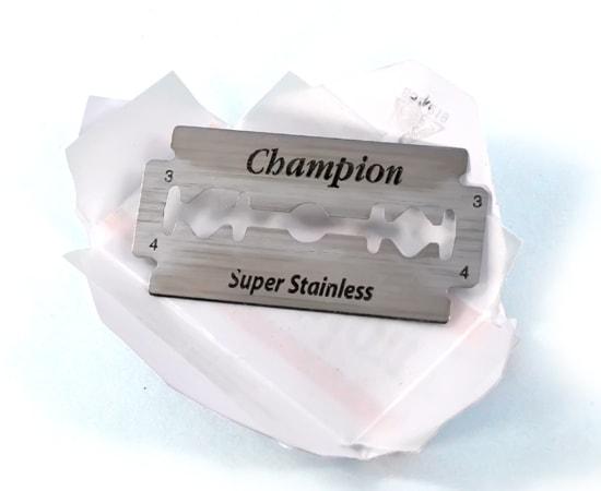 champion double edge blade w